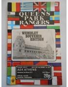 Πρόγραμμα Κουήνς Παρκ Ρέιντζερς ΑΕΚ 1977