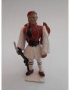 Στρατιωτάκι ΠΑΛ Εύζωνας με Κόκκινη Φέρμελη